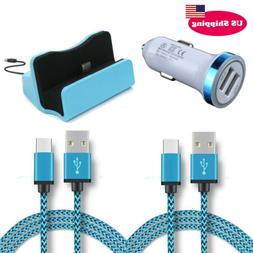 Type C USB Charger Dock Station Dual USB Car Adapter Type C