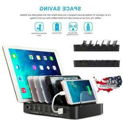 Universal 7-Port USB Charging Station USB Charger Dock With