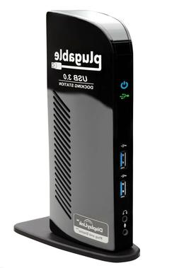 Plugable USB 3.0 Universal Laptop Docking Station for Window