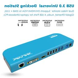 Wavlink USB3.0 Universal Docking Station Support Dual Video