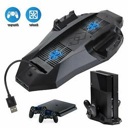 Vertical Stand For Sony PS4 with Cooling Fan 2 Controller Ch