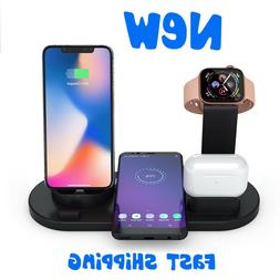 Wireless Charger UK Metal Qi 10W Dock Station Fast Charging
